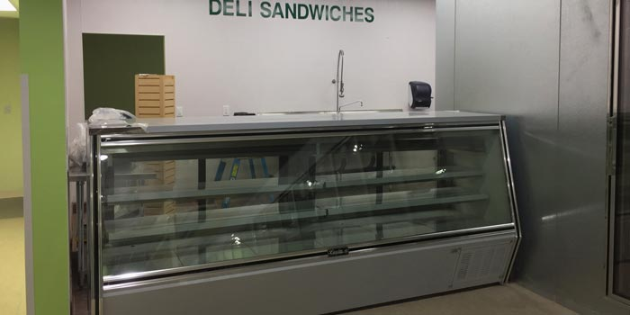 deli cases and reach in cooler installation