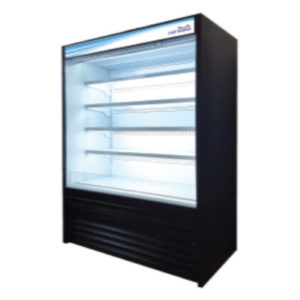 blue air open display refrigerator
